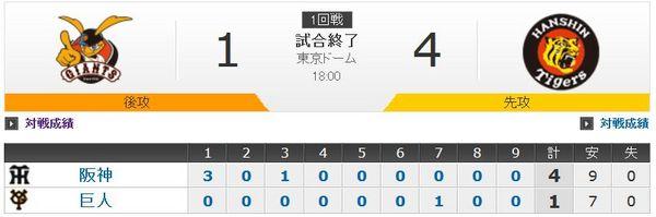 CS2014巨人対阪神第一戦結果.jpg