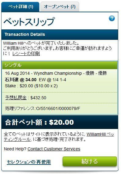 ウィンダム選手権2014石川遼にベット.jpg