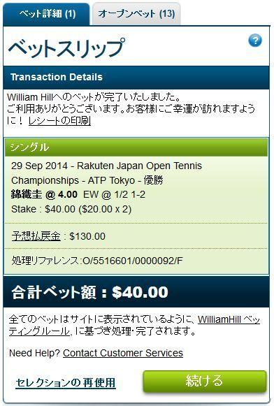 楽天オープンテニス2014錦織圭の優勝にベット.jpg